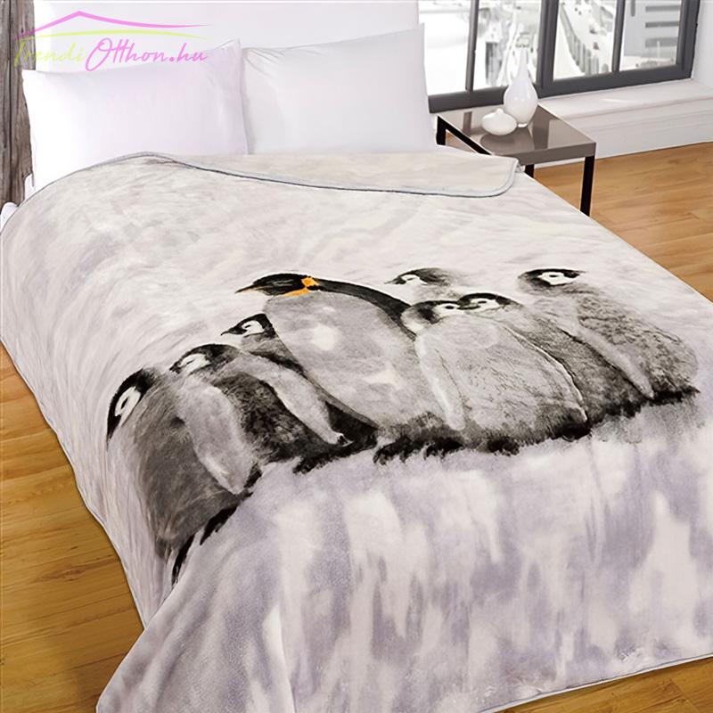 Pléd pingvin mintával,150x200 cm