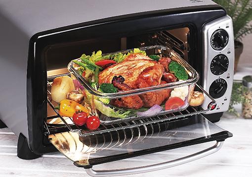 OvenGlass osztott kialakítású hőálló üveg ételtároló 950 ml