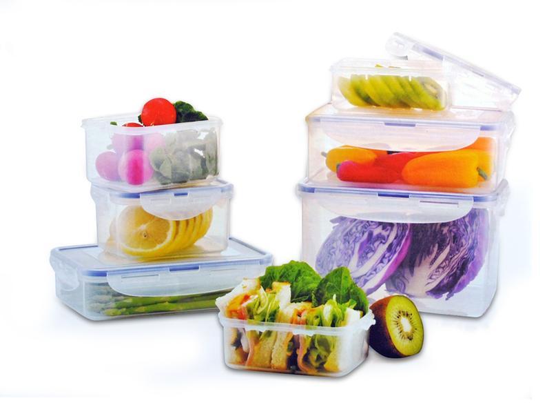 Műanyag ételtároló szett, 7 részes, Lock&Lock
